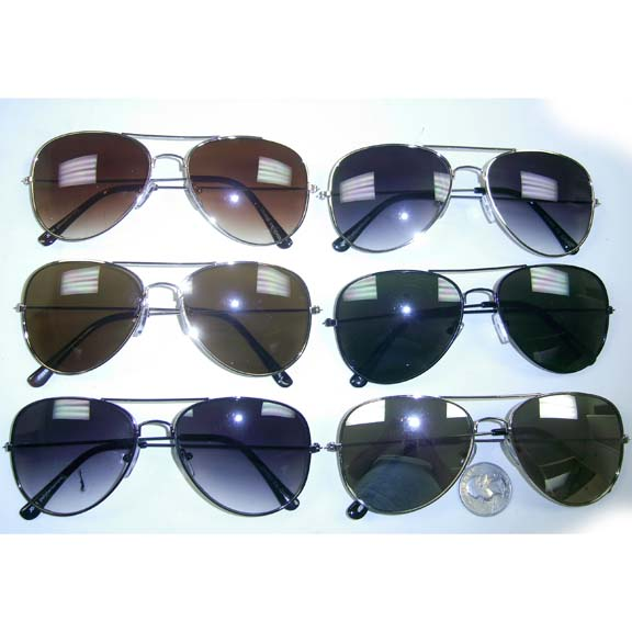 AVIATOR METAL FRAMES SUNGLASSES, VERY NICE ASSORTMENT
